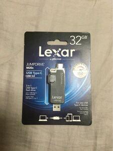 Lexar JumpDrive M20c USBフラッシュドライブ 32GB /USB3.0、USB Type-C対応  レキサー