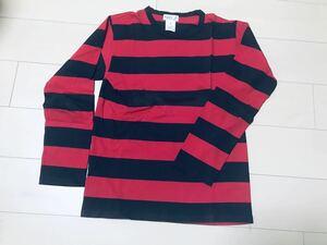 アニエス・ベー・オム/agnes b. hommeの長袖ボーダーシャツ(赤) サイズ1