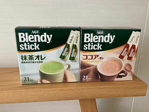 ブレンディスティック2箱42本 抹茶オレ ココアオレ