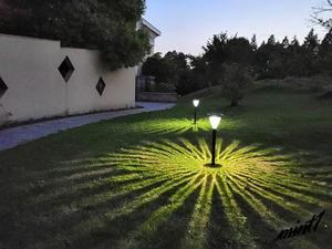 3個セット 放射線状の光がエレガント 埋め込み式 ソーラーライト 自動点灯 工事不要 防水 ロマンチック アンティーク おしゃれ 防犯
