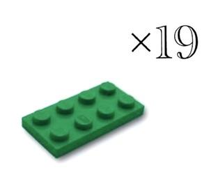 未使用正規品LEGOレゴ 2×4 プレート 3020 グリーン19個 パーツ バラ売り 基本ブロック