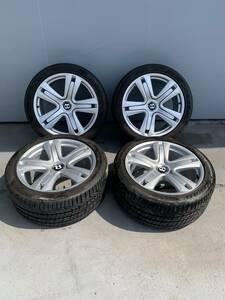 ☆J100 ベントレー Bentley コンチネンタルGT コンチネンタルGTC フライングスパー アルミ、タイヤセット 純正 4本 キャップ付