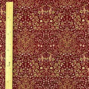 ウィリアムモリス moda生地 ブラックソーン 赤 50cmx生地幅110cm
