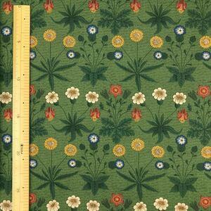 ウィリアムモリス moda生地 デイジー 緑 50cmx生地幅110cm