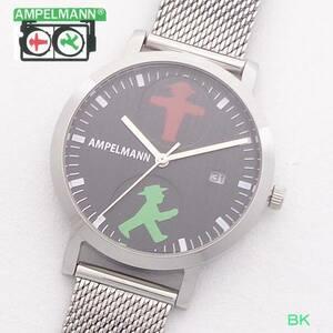 腕時計 レディス ファション時計 アンペルマン メンズ キッズ ウォッチ AFC2115BK クォーツ 3針 カレンダー 日付 ドイツ 信号機 ベルリン