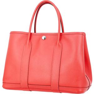 7189 中古 エルメス ガーデンパーティTPM ブーゲンビリア ライトレッド ヴォーエプソン トートバッグ ハンドバッグ ミニバッグ ビジネス 鞄