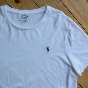 USA古着 ポロラルフローレン Polo by Ralph Lauren Tシャツ メンズ XLサイズ 白T ワンポイント ポニー アメカジ アメリカ仕入 T0873