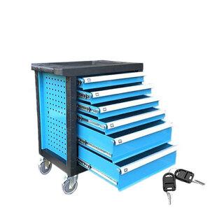 キャビネット6段 青 ツールボックス キャスター付き 工具箱 ガレージ収納 ブルー