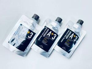 アミノスパA+3ナチュラルペーストシャンプー[Net 100g] ×3個セット フルボ酸 フコイダン 備長炭 育毛 消臭 男女兼用