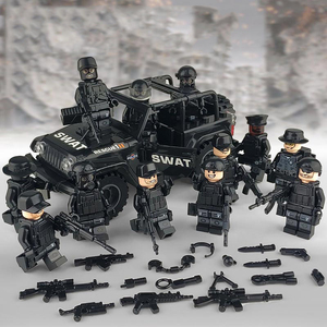 LEGO互換 レゴ互換品 SWAT 特殊部隊 アンチテロ部隊 カスタム ミニフィグ 12体 セット 装備 想像力 知育