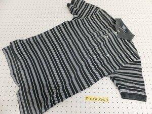 〈送料280円〉Polo by Ralph Lauren ラルフローレン メンズ ワンポイント刺繍 ボーダー 半袖ポロシャツ 黒白