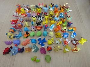 中古 難有 ポケットモンスター ポケモンキッズ フィギュア 指人形 ソフビ 80個セット BANDAI POKEMON KID's Pocket Monsters figure