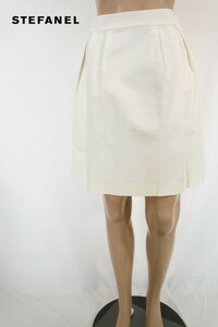 90%OFF 訳あり 新品 ステファネル STEFANEL スカート 38 ESK316 Mサイズ ホワイト レディース 膝上丈スカート コットン アウトレット