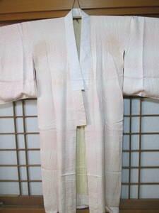 即決!◆正絹 綸子 高級素材の長襦袢◆ピンクぼかし◆小桜地模様