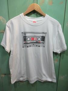 ☆Dry Bones ドライボーンズ Tシャツ M 半袖シャツ カセットテープ プリント 綿100% a110