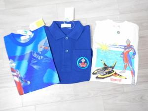 1 ウルトラマンティガ 新品 レア 半袖Tシャツ・半袖ポロシャツ3点セット100:福袋