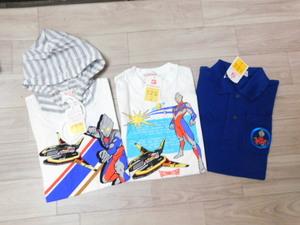 3 ウルトラマンティガ 新品 レア 半袖パーカー・半袖Tシャツ・半袖ポロシャツ3点セット100:福袋