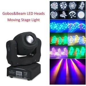 【セール中】6-462 60W LED 8ゴボス8色RGBWムービングヘッドステージ効果ライト 9/11チャンネルオートランDMX512 DJクラブショーディスコ