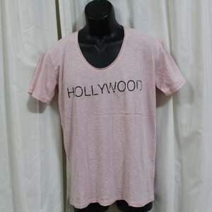 エドハーディー ED HARDY メンズ半袖Tシャツ ピンク Mサイズ 新品 USA ハリウッド M02WUS052