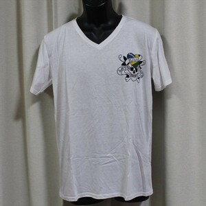 Ed Hardy(エドハーディー) メンズ半袖Tシャツ M02CMVB052 ホワイト 新品 Vネック 白色 Lサイズ