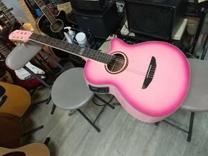 ピンクのエレガット 海外で展開しているブランド VegasのPINKのエレキクラシック ( エレガット ギター) 高性能プリアンプナイロン弦