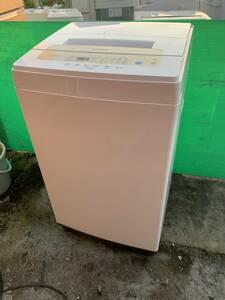☆美品 ■2020年製■*アイリスオーヤマ 洗濯機 5kg 全自動 風乾燥 お急ぎコース ステンレス槽 ゴールド IAW-T502EN NO479