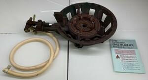 ■M□タチバナ 鋳物コンロ ガスコンロ 都市ガス TS-210 二重 中古 業務用 □T-2105192■