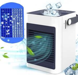 冷風機 KOXXBASS 冷風扇 卓上冷風機 ミニ冷風扇 扇風機 卓上 小型 送風 加湿機能 冷却機能 空気清浄機能 350ml 3段階調整 氷いれ可能