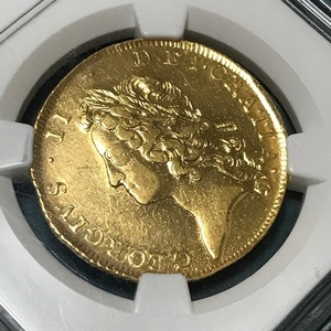 ★《希少》1738 イギリス 2ギニー金貨 ジョージ2世 NGC XF DETAILS