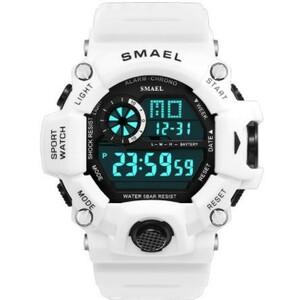 Mz1695:時計メンズデジタルウォッチホワイト スポーツウォッチ 50M 防水