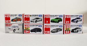 ■中古品■タカラトミー トミカ 8台 まとめ売り ポケットトミカ カローラ1500 ランボルギーニ など 箱イタミあり  (2731623)