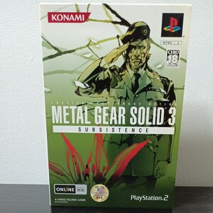 PS2メタルギアソリッド3サブシスタンス