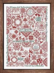 クロスステッチキット◆雪のクリスマス クエーカー柄 刺繍キット 美しい幾何学模様