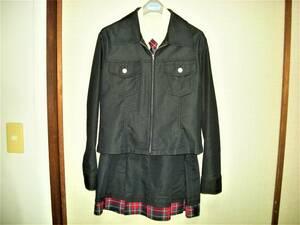 hiromichi nakano ヒロミチナカノ 超美品 アンサンブル コットン デザイン スーツ 4点セット ジャケット/スカート/シャツ/ネクタイ 160