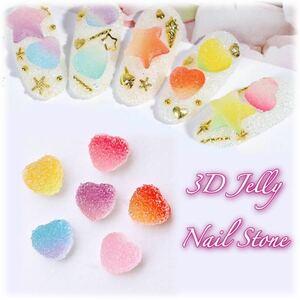 ●人気●3D Jelly Stone●キャンディストーン●6色セット【24P】● ネイルアート ハンドメイド レジン