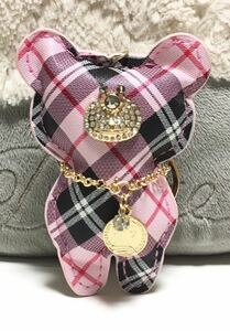 新品/可愛い/くまさん/バッグチャーム/キーリング付き/キーホルダー/レディース バッグ 可愛い ピンク