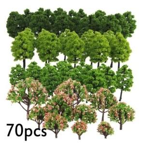 70本 HO Nゲージ ジオラマ 鉄道模型 木 樹木 70本セット 多数の木 ミニチュア ツリー アクセサリー 風景 シーン おもちゃ #642