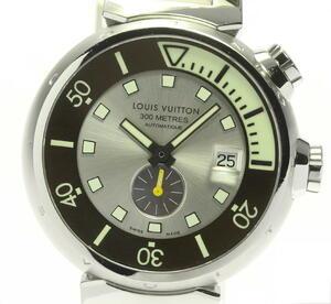 【LOUIS VUITTON】ルイ・ヴィトン タンブール ダイビング Q103M デイト 自動巻き メンズ