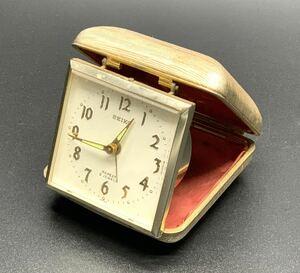 ■SEIKO REPEAT 2 JEWELS 目覚まし時計 ゼンマイ式 置時計 レトロ アンティーク■兵庫県姫路市から b3