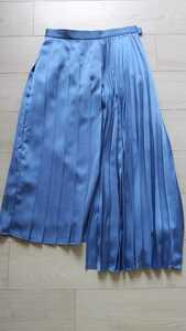 Ray BEAMS☆変形プリーツスカート☆サックスブルーレイビームス