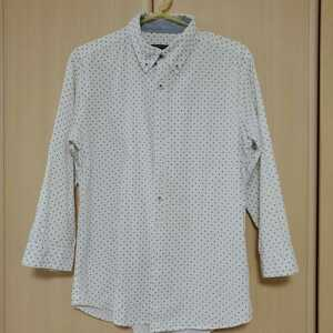 ABAHOUSE アバハウス ドットシャツ 七分袖シャツ サイズ2