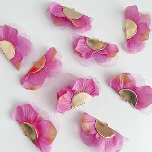 アクセサリーパーツ 4個セット チャーム 花びら 紫陽花 ピアス アクセサリー ハンドメイド