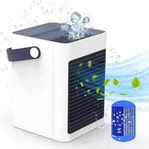 冷風機 扇風機 スポットクーラー 卓上 冷風扇 小型 強風 コンパクト 加湿機能 空気清浄機能 アロマ USB給電式 涼しい 省エネ 暑さ対策