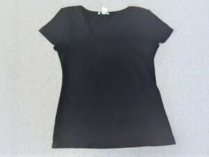 ■H&M BASIC(エイチ&エム ベーシック)■黒の半袖Tシャツ  サイズL■