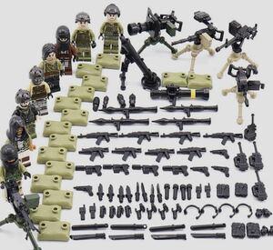 翌日発送 野戦部隊 武器つきセット 戦争軍人軍隊マンミニフィグ LEGO 互換 ブロック ミニフィギュア レゴ 互換t16 q