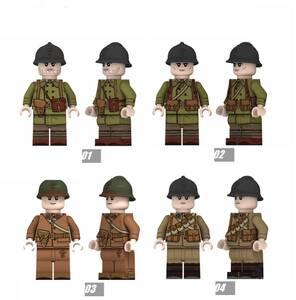 4体 フランス軍 第二次世界大戦 軍人 兵士 ミニフィグ LEGO 互換 ブロック ミニフィギュア レゴ 互換 q
