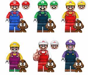 翌日発送 6体セット マリオ ミニフィグ LEGO 互換 ブロック ミニフィギュア レゴ 互換 q