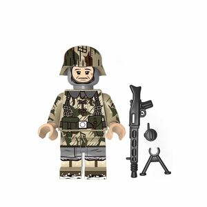 1体 軍人 武器付き ミニフィグ LEGO 互換 ブロック ミニフィギュア レゴ 互換 q