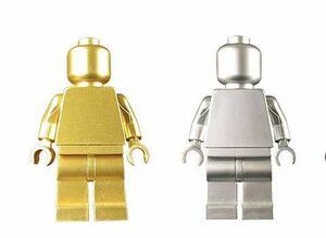 2体 素体  メタル光沢仕様 ミニフィグ LEGO 互換 ブロック ミニフィギュア レゴ 互換 q