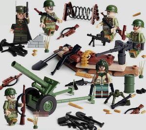 アメリカ軍 武器つきセット 戦争軍人軍隊マンミニフィグ LEGO 互換 ブロック ミニフィギュア レゴ 互換t02